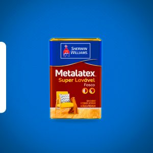 Tinta Metalatex Superlavável acrílica 18L branco Sherwin Williams